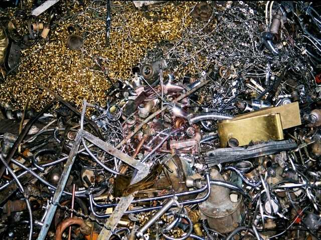 Chatarra de latón comercial para reciclar