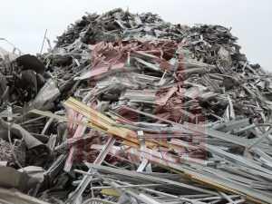Chatarra aluminio perfil anodizado para reciclar