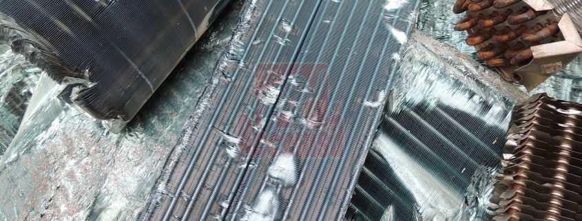 Chatarra de cobre de un radiador