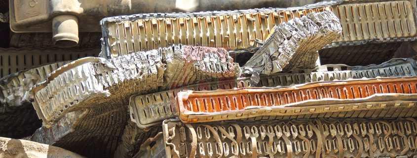 Chatarra de radiador mixto de latón y cobre