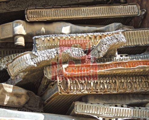 Chatarra de radiador de latón mixto con cobre