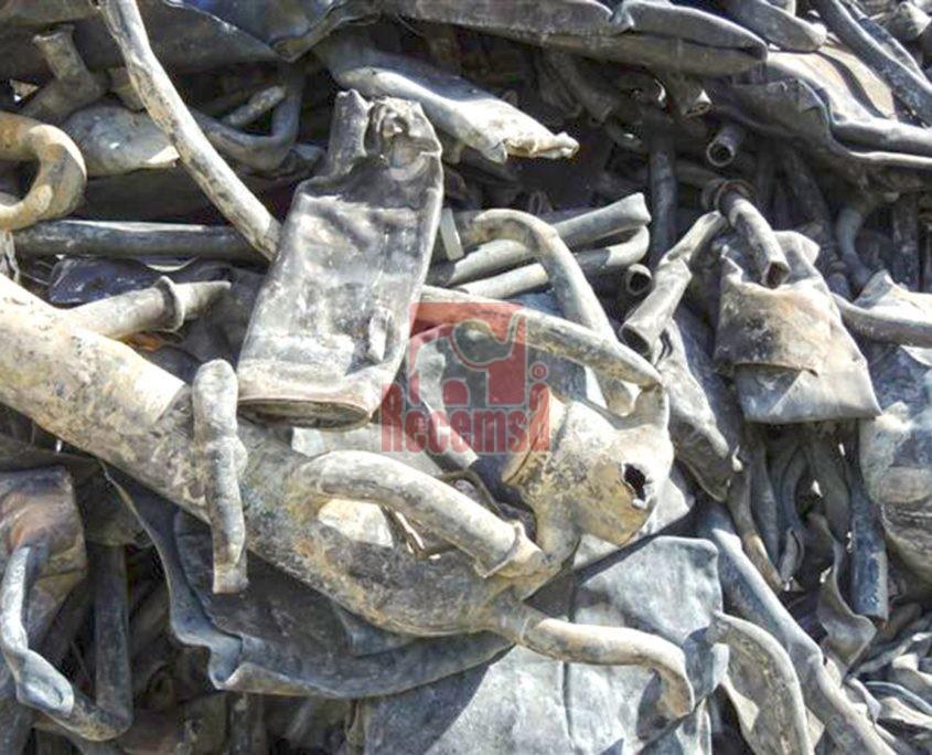 recuperación y reciclado de chatarra Tuberia y plancha de plomo