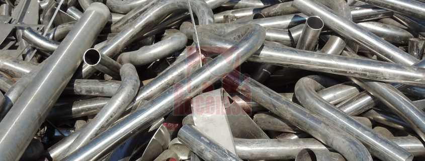 Tubos de acero inoxidable en Chatarrería de Madrid