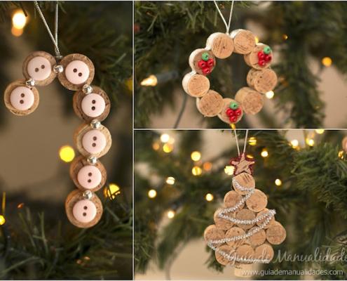 adornos navideños reciclados para el árbol