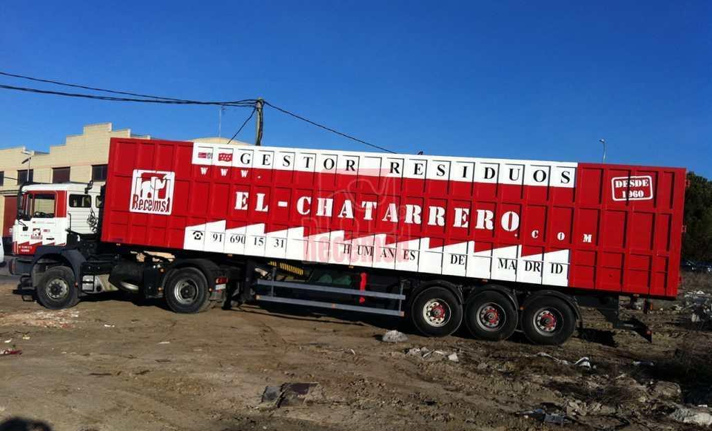 camión para reciclar metales
